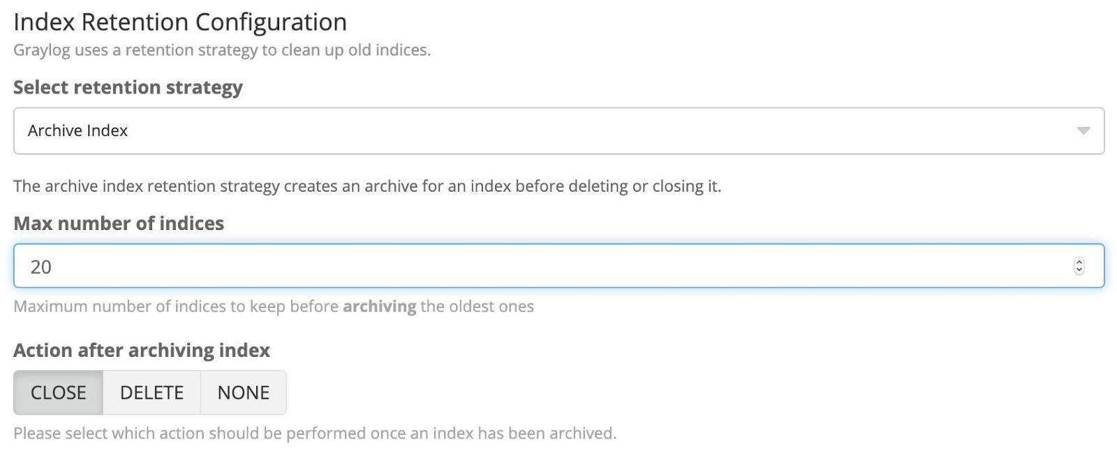 Index Retention Rotation