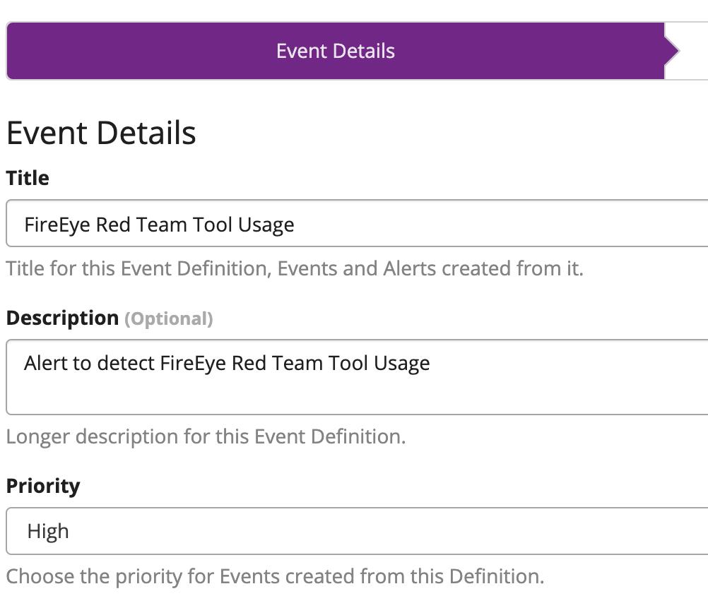 Graylog Alert Event Details