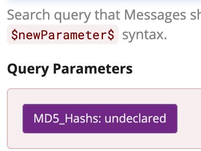 Graylog Alert Query Parameters