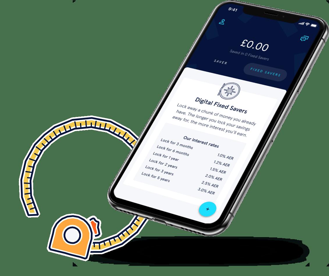 Fixed savers app screen