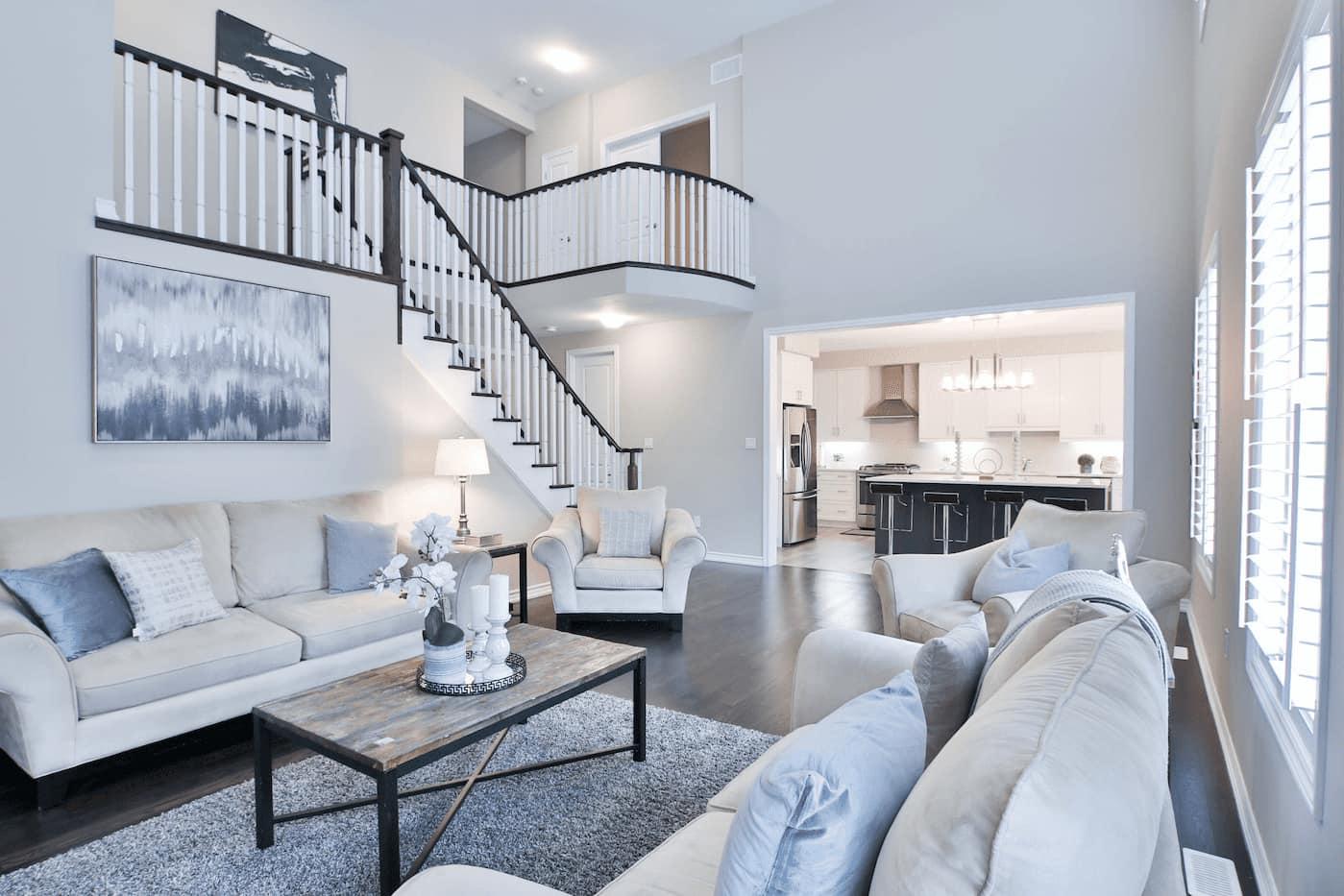 Rental property unit prepared as rent-ready for leasing season