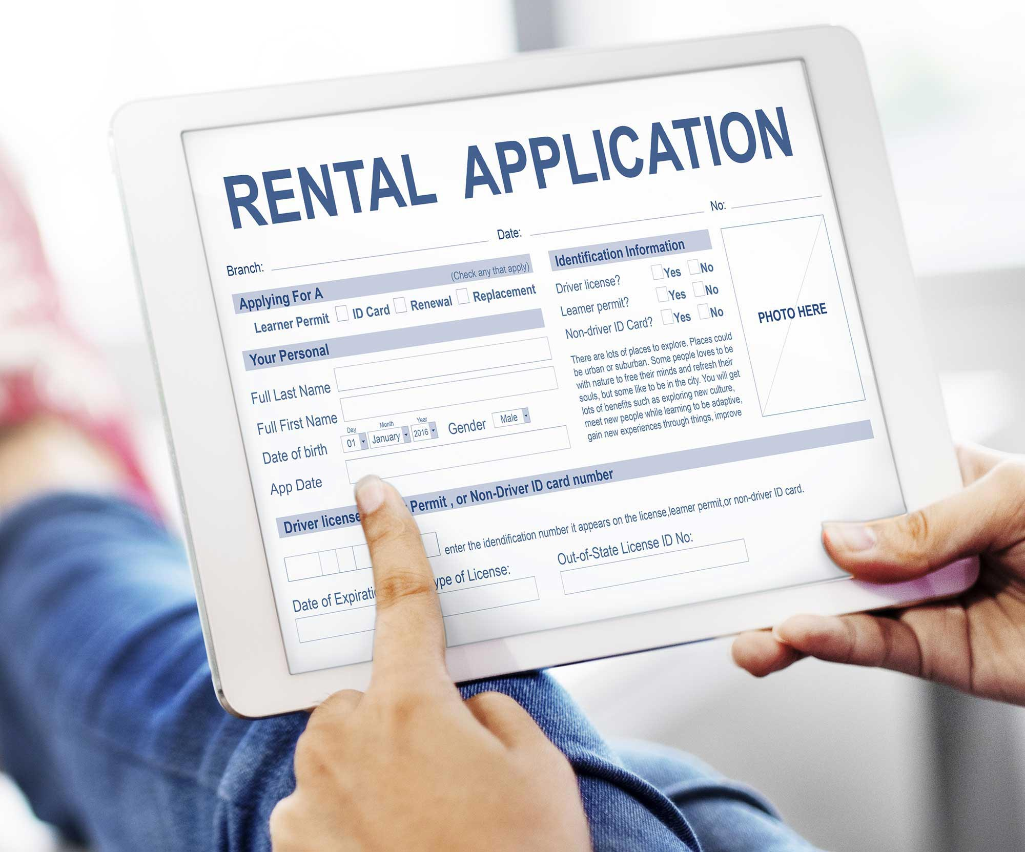 Be clear about screening process on rental application