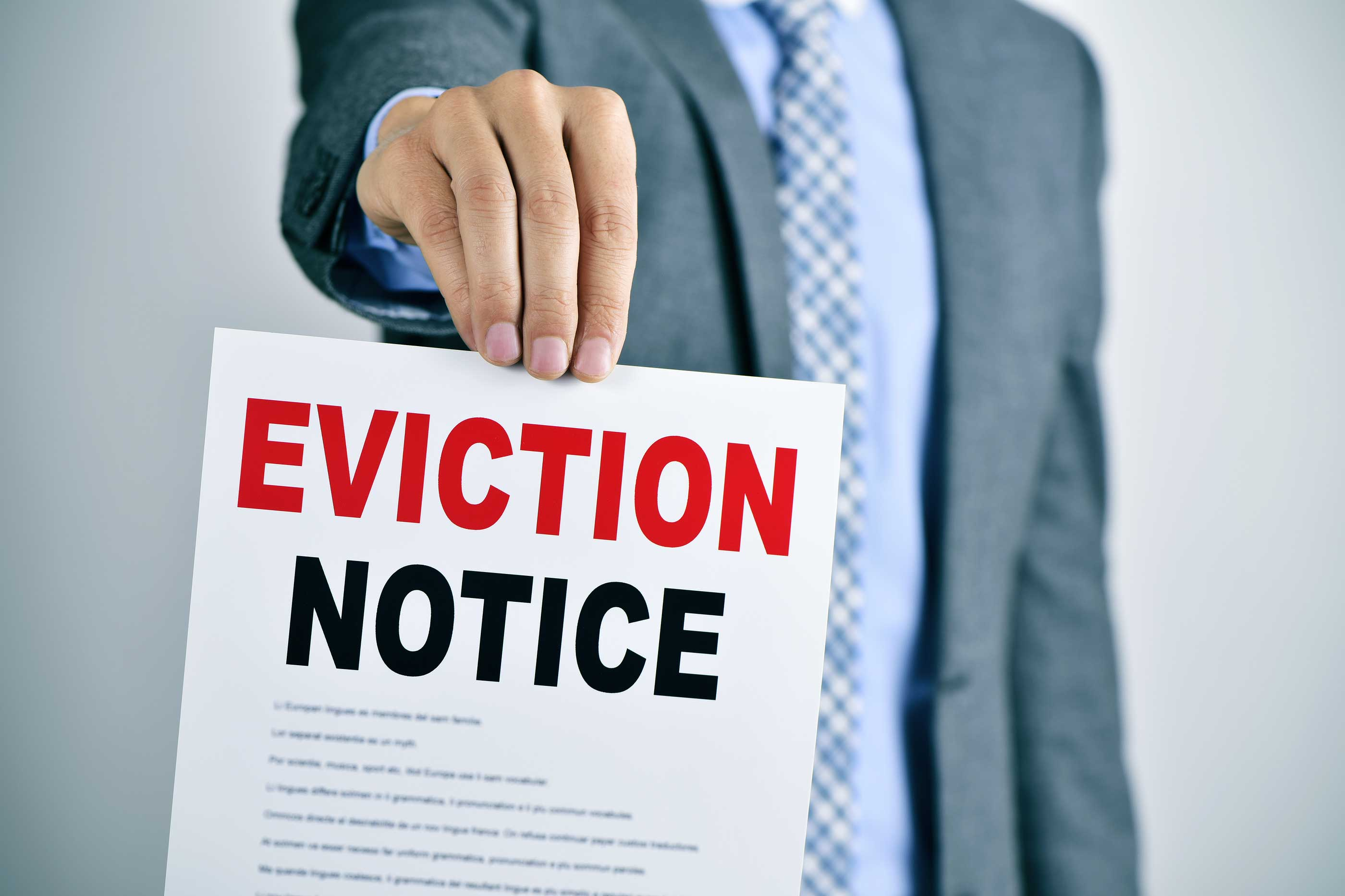 eviction notice due to lease violations in your rental property