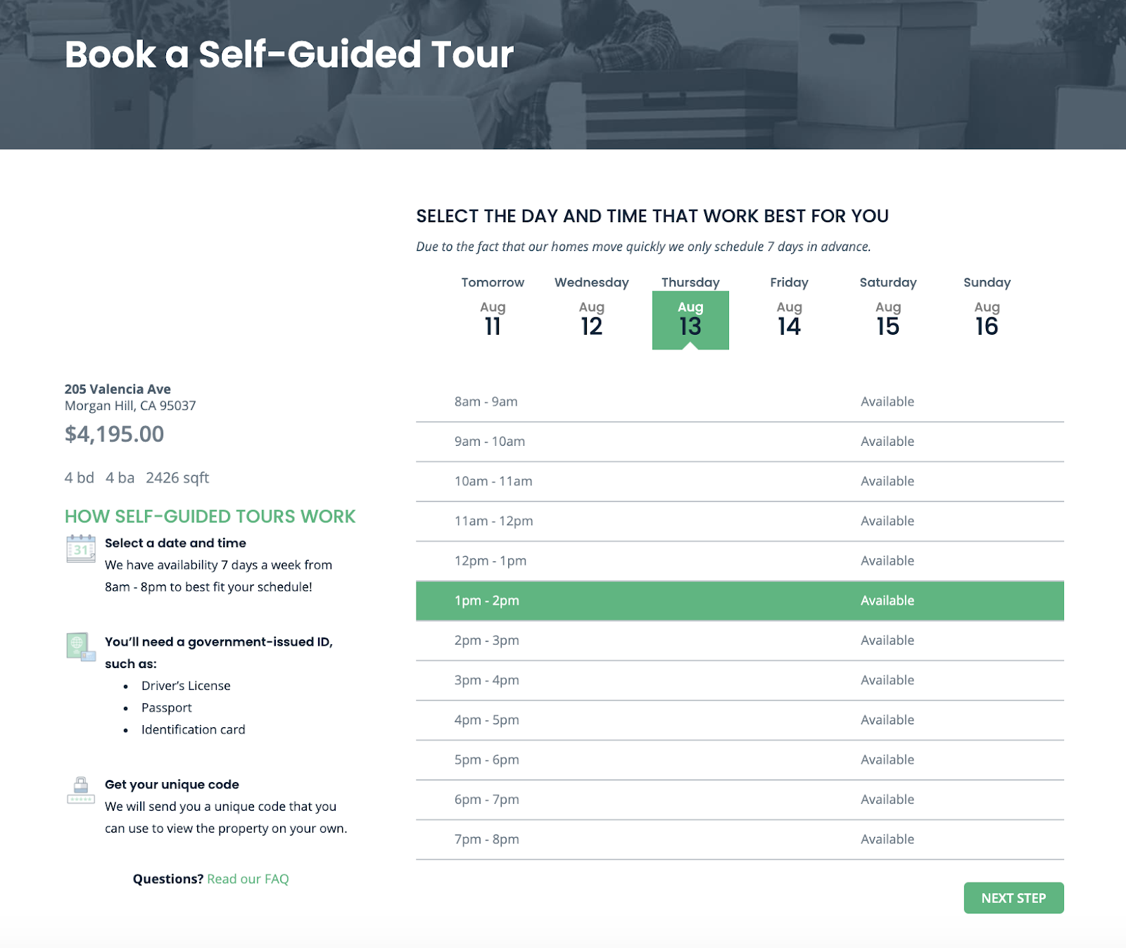 Self guided tours increase conversions and reduce vacancies in rental property