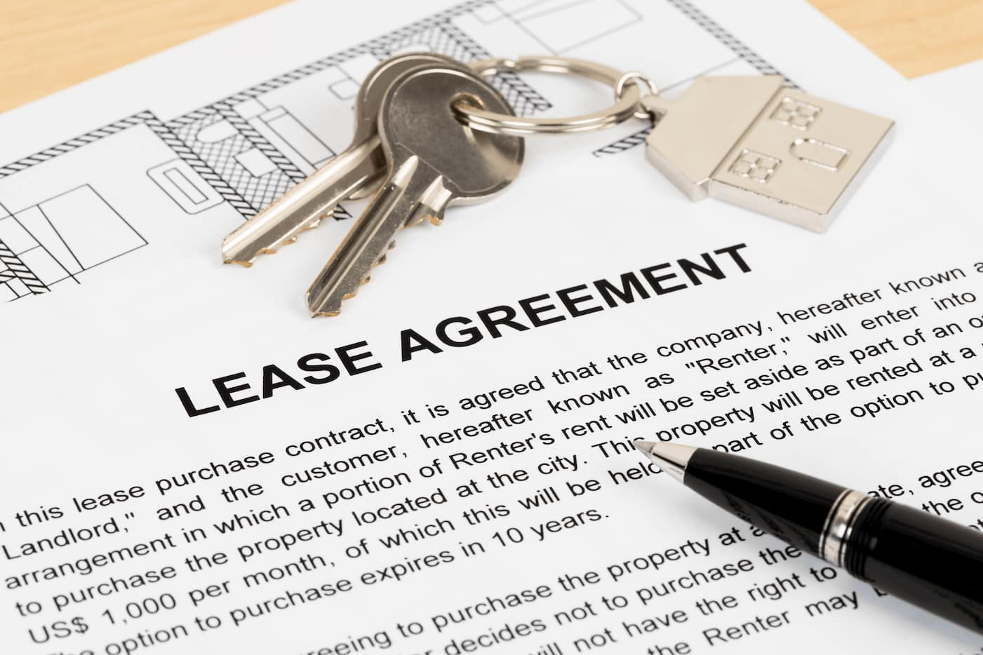 Lease agreement violation early termination