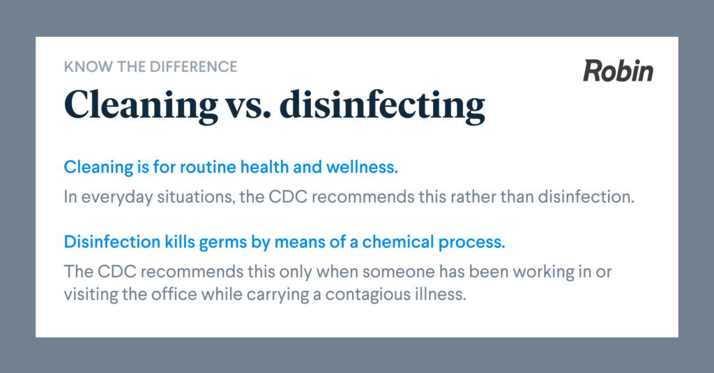 cleaning vs sanitation vs disinfecting for office cleaning during covid-19