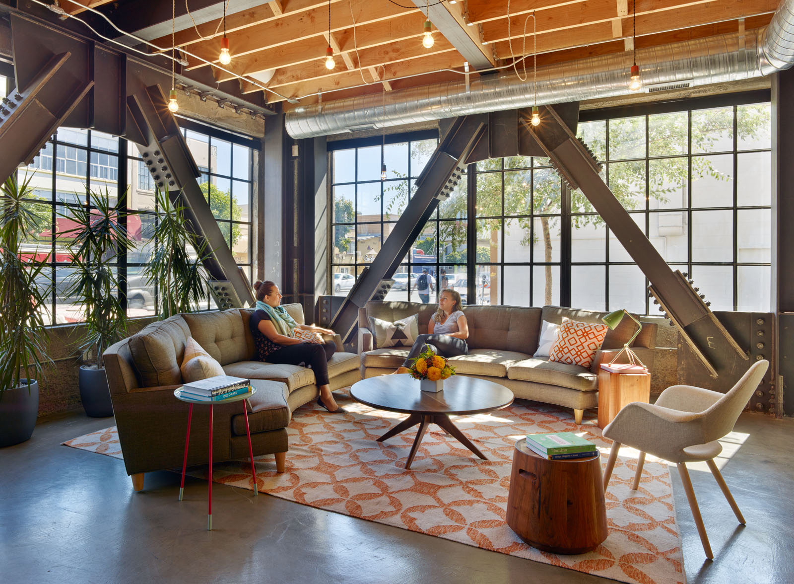Thumbtack's SF office lobby looks like a comfortable living room