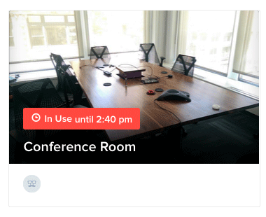 Occupancy detected in the conference room