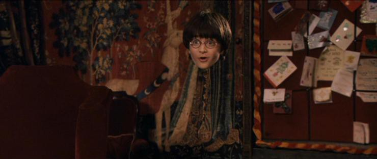 Harry Potter in the Invisibility Cloak