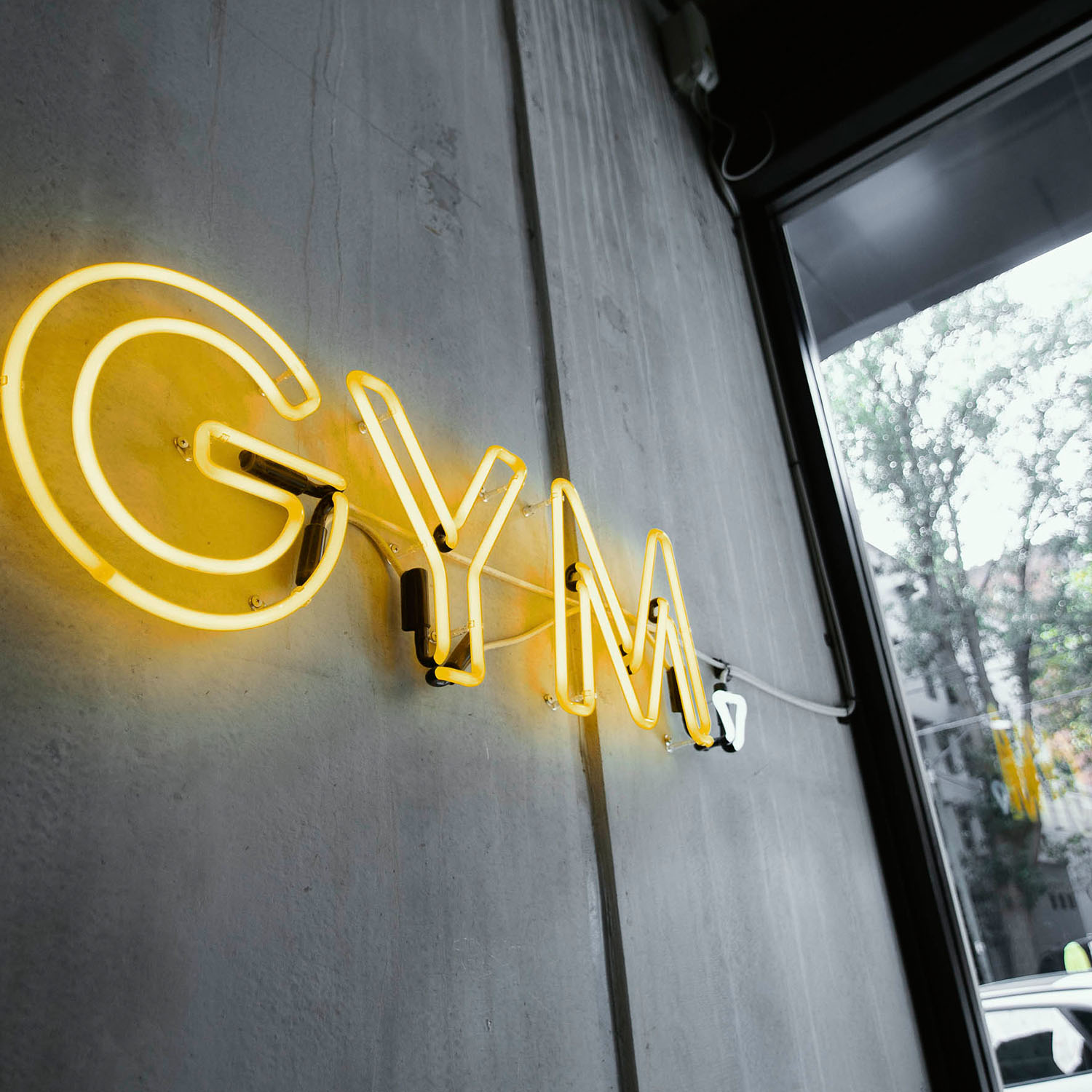 entrance neon sign the bunker gym surry hills gallery