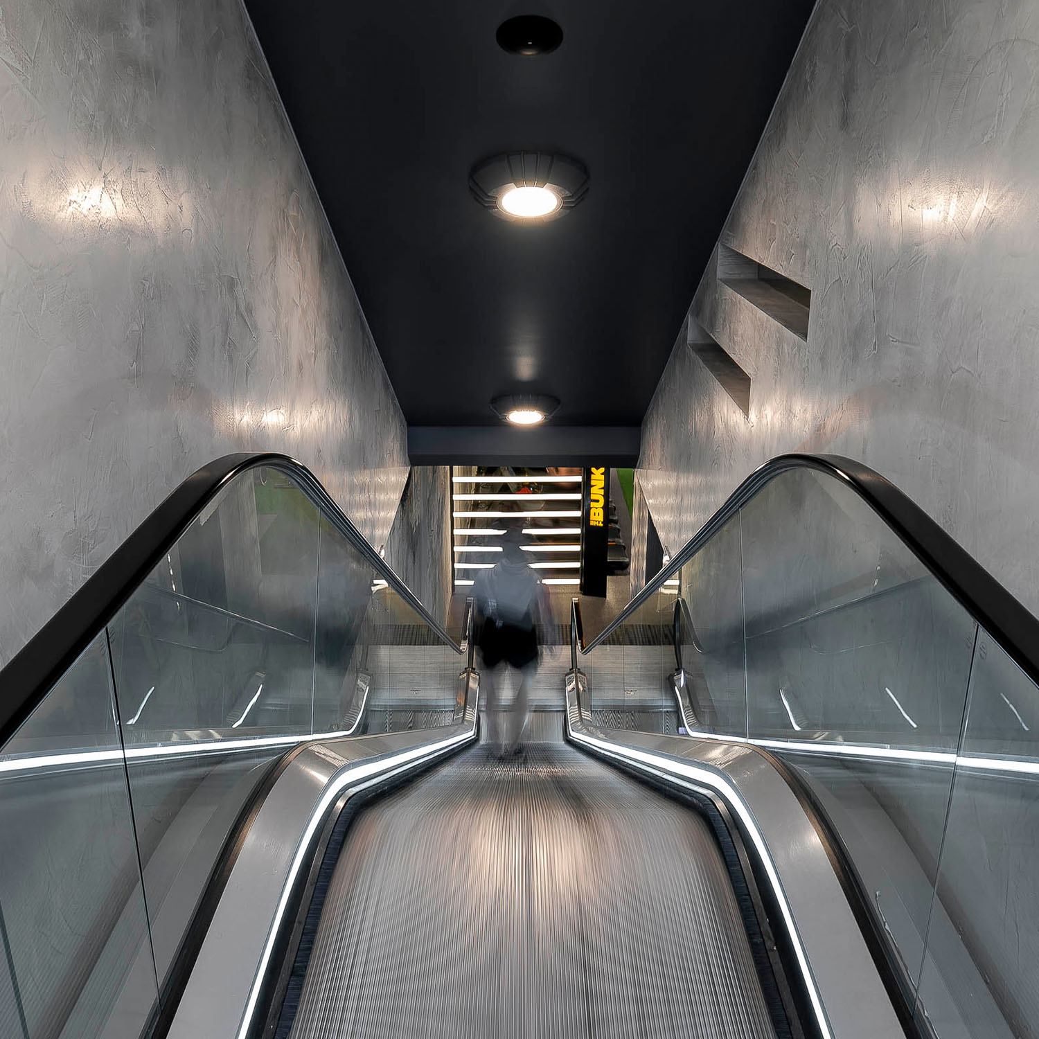 escalator entrance the bunker gym surry hills gallery