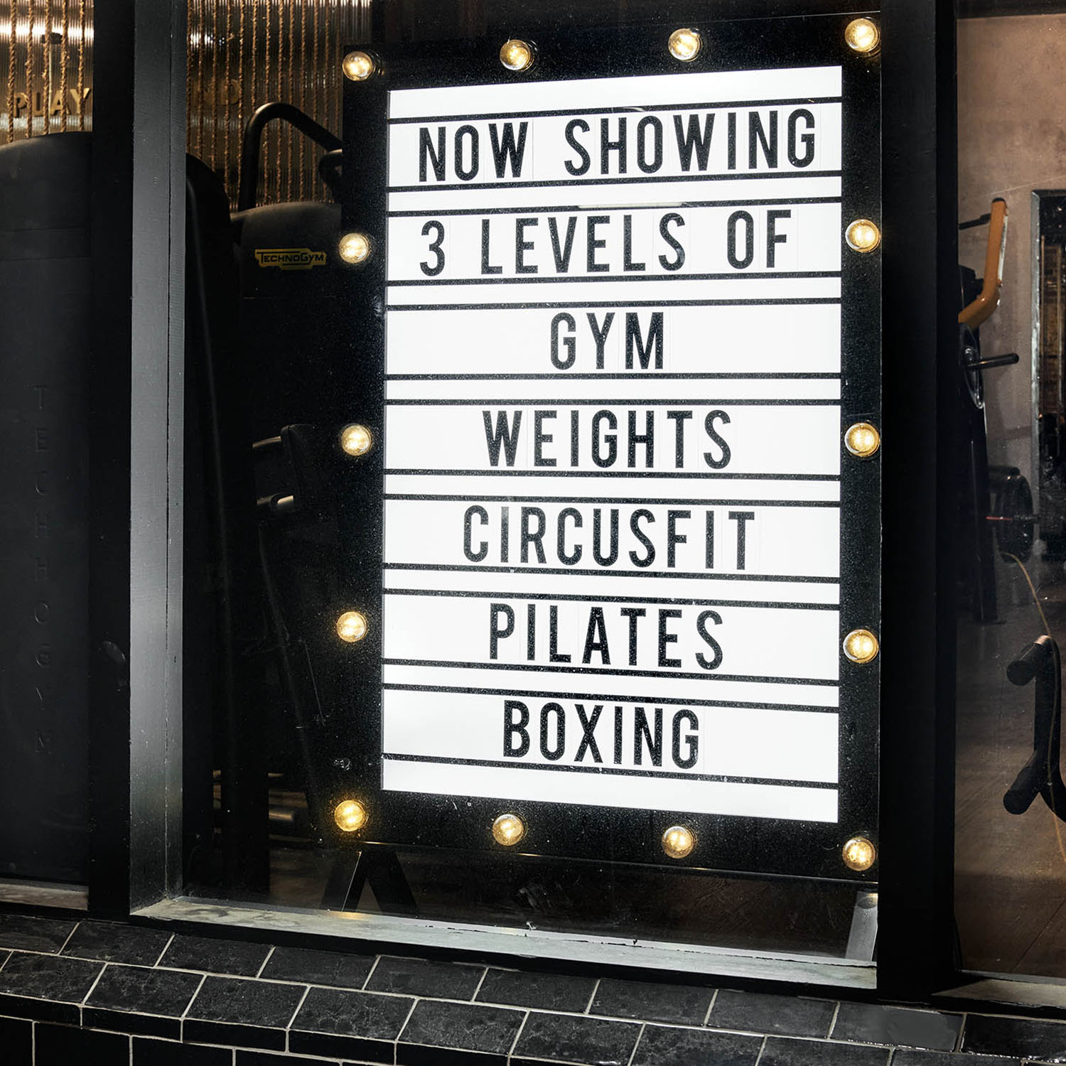 neon circus sign sydney gym facility gallery