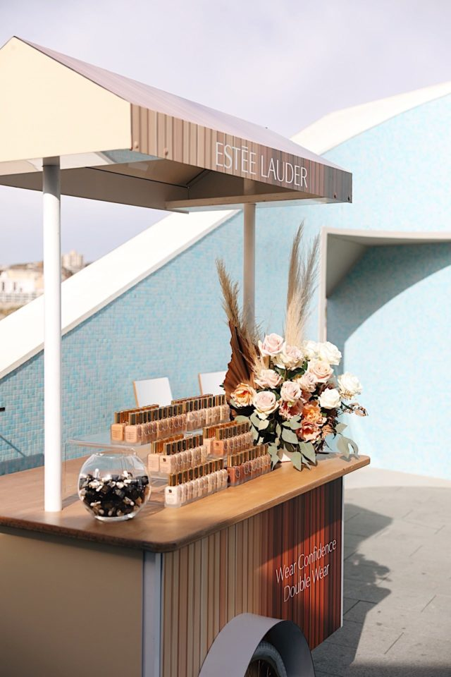 Estee Lauder Product Launch Branded Cart