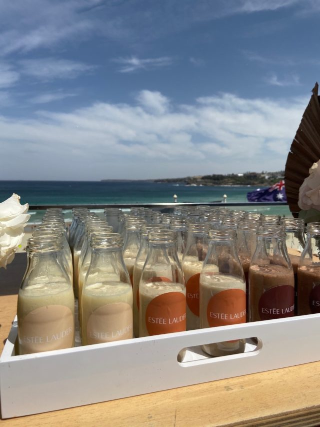 Estee Lauder Product Launch Branded Smoothies