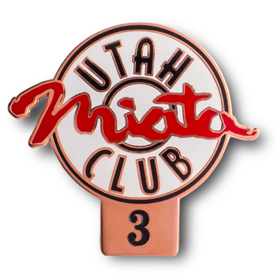 utah miata club 3 hard enamel pin