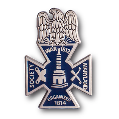 war of 1812 hard enamel pin
