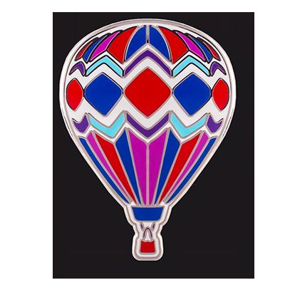 hot air balloon hard enamel pin