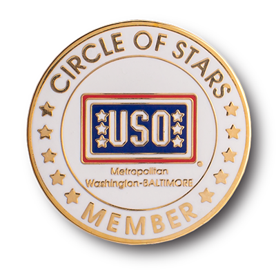 circle of stars member hard enamel pin