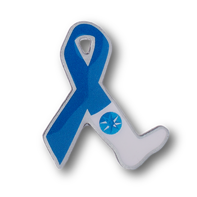 blue-ribbon-foot-photo-dome-pin