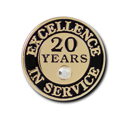 Excellence In Service 20 Year Pin