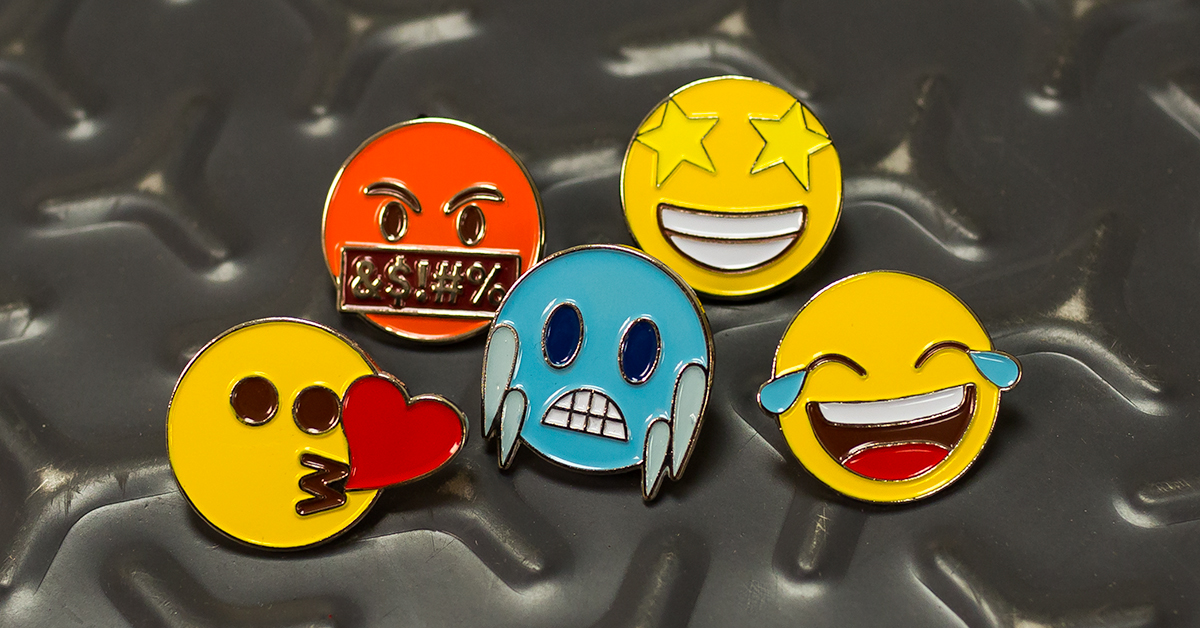 Add Personality to a Custom Lapel Pin with Emojis!