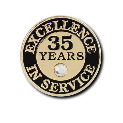 Excellence In Service 35 Year Pin