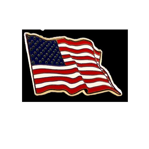 American Flag Wavy Pin