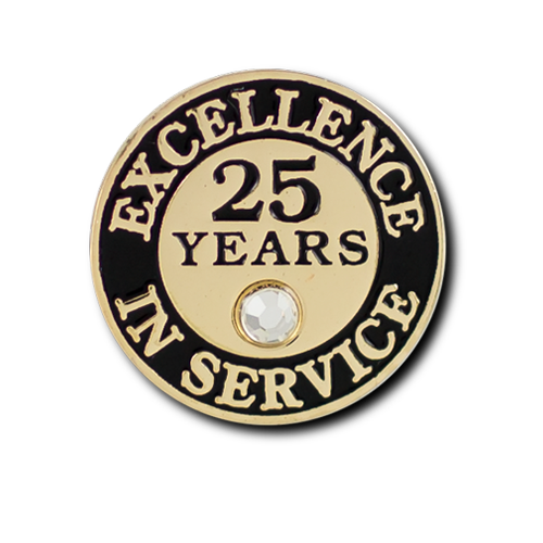 Excellence In Service 25 Year Pin