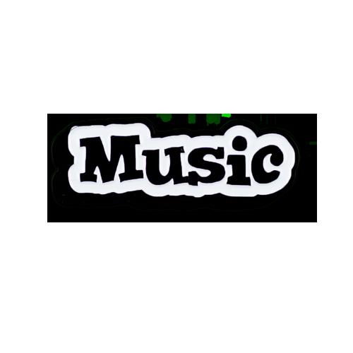 Music Word Pin
