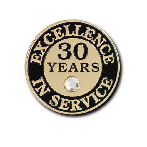 Excellence In Service 30 Year Pin
