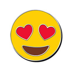 Heart Eyes Emoji Pin
