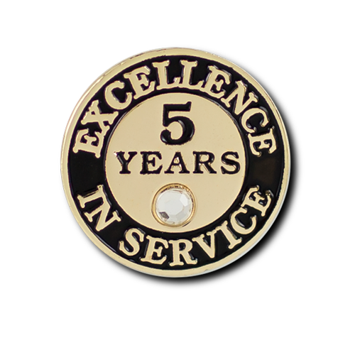 Excellence In Service 5 Year Pin
