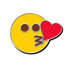 Face Throwing A Kiss Emoji Pin