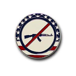 No Guns Pin