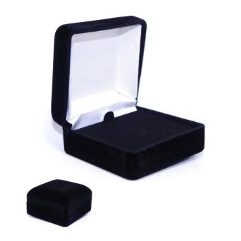 Velour Jewelry Box (Black)