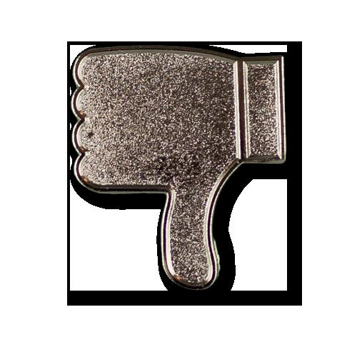 Thumbs Down Emoji Pin