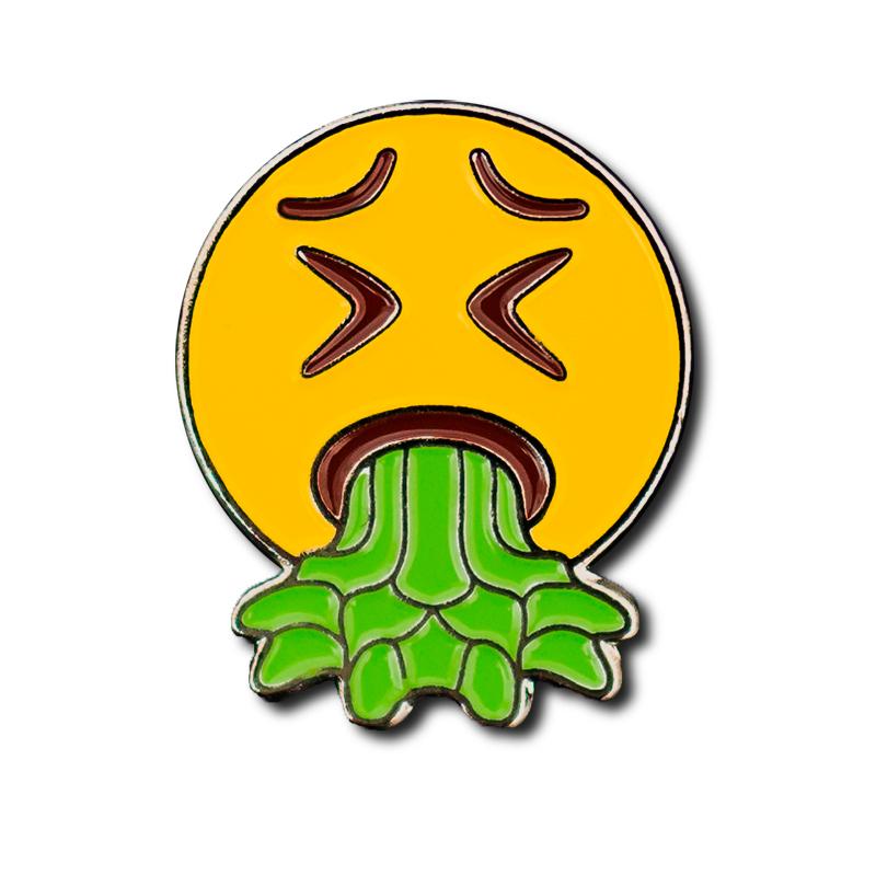 Throw Up Emoji Pin