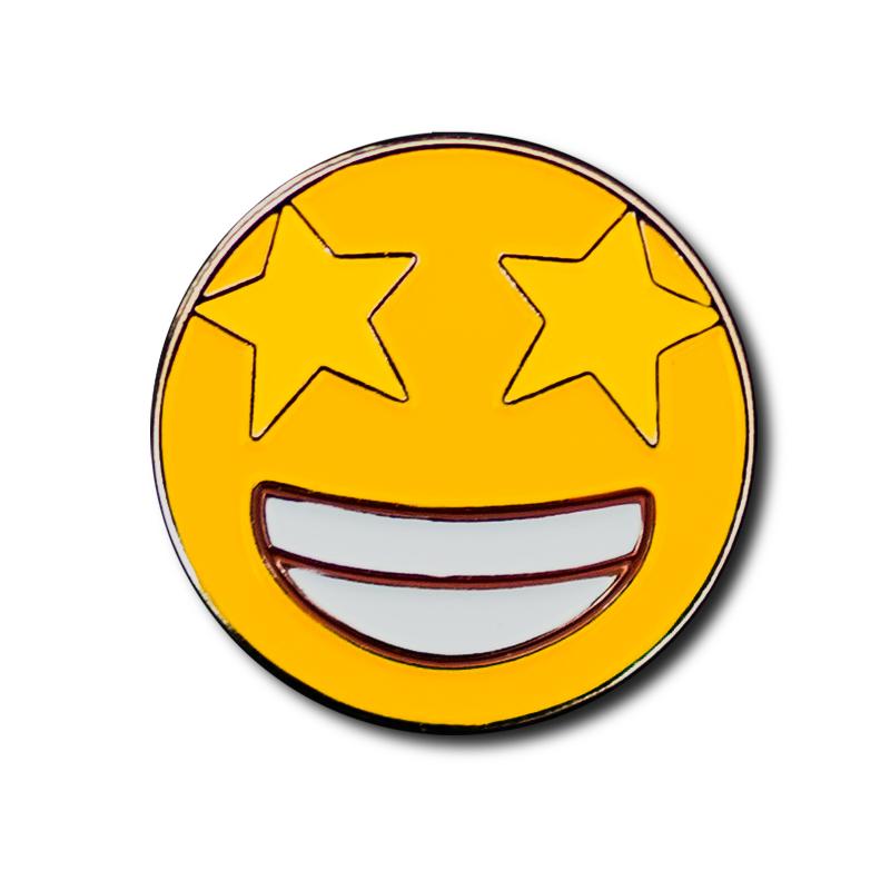 Starry Eyes Emoji Pin