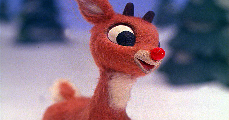 A Blinkie Pin Shines Bright Just Like Rudolph's Red Nose