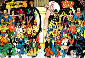 Justice Society of America and Justice League of America DC superhero team lineups