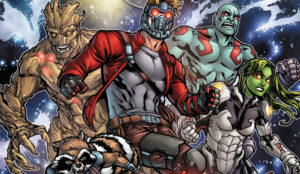 The Guardians of the Galaxy Marvel superhero team iconic characters
