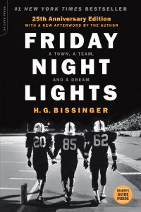 Friday Night Lights cover, football players on the field