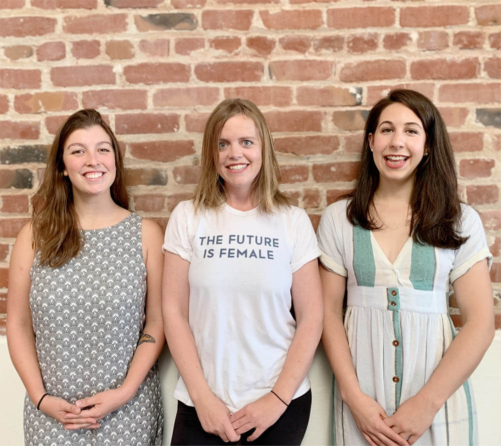Caroline Cotto, Co-founder and COO; Claire Schlemme, Co-founder and CEO; and Di Lamont, Chief CPG Officer [Unioncrate]