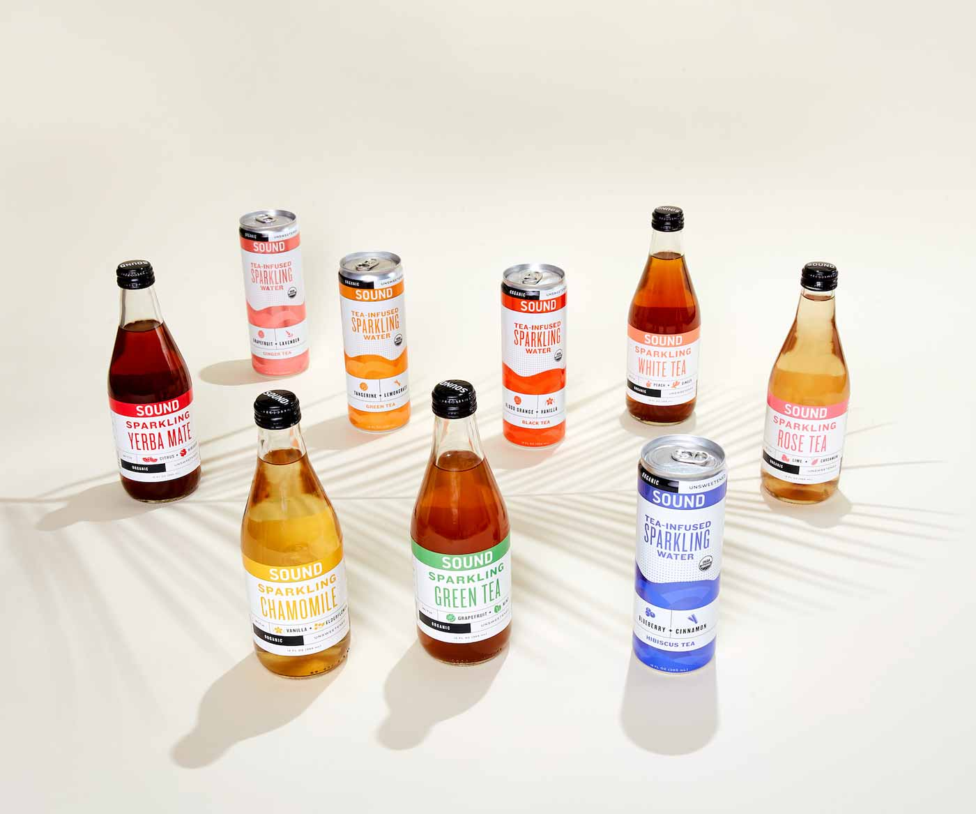 An assortment of SOUND Sparkling Tea products [Unioncrate]