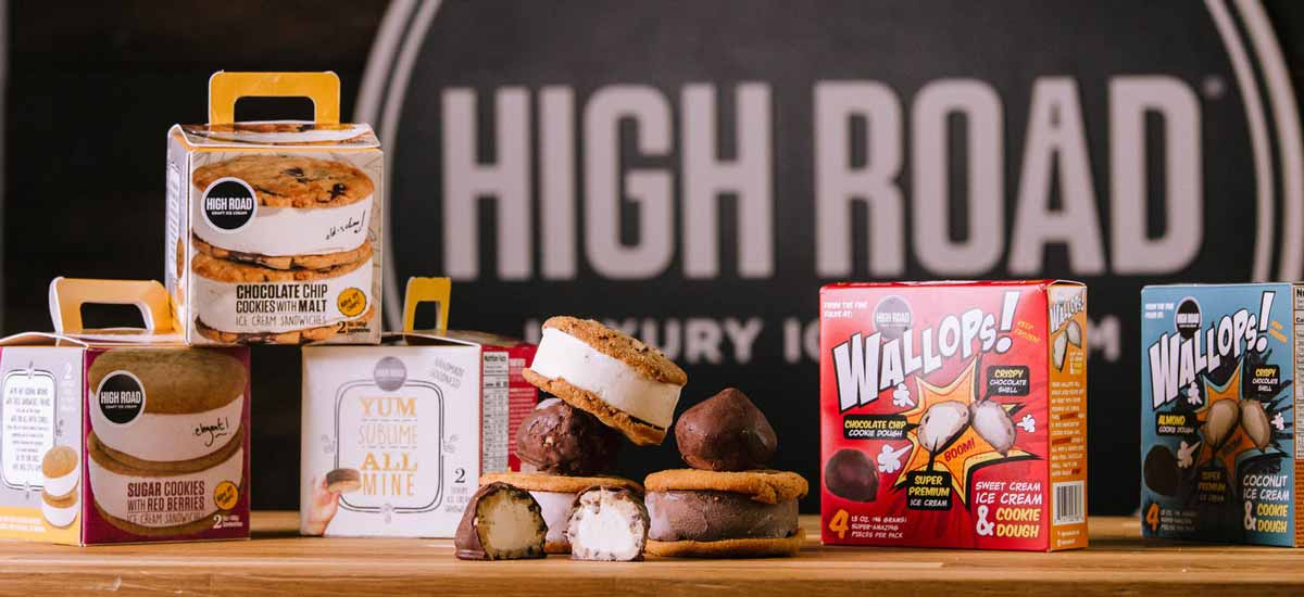 An assortment of High Road and Wallops! ice cream products [Unioncrate]