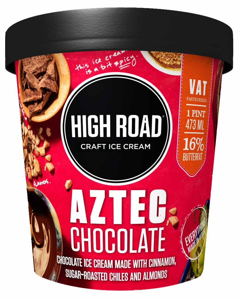 A pint of High Road's Aztec Chocolate flavor [Unioncrate]