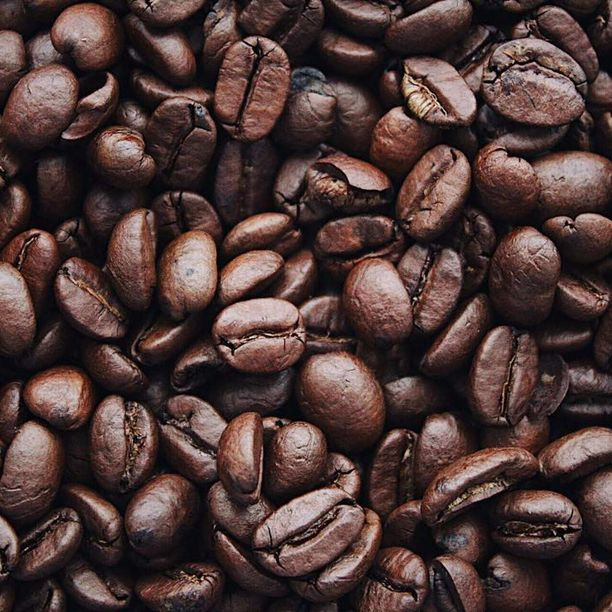 Coffee beans, representing the packaged coffee category for Unioncrate's CPG Year In Review