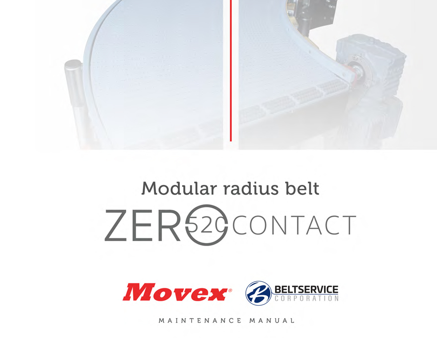 Movex Modular Belting Zero 520 Contact Maintenance Manual