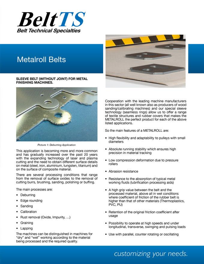BeltTS - Metalroll Belts