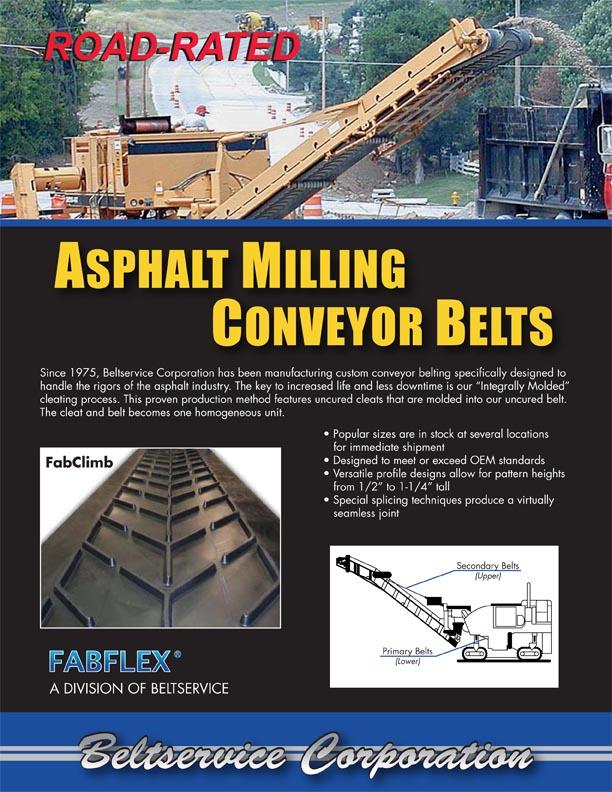 Asphalt Milling Belting